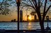 Hudson River at dusk, NYC